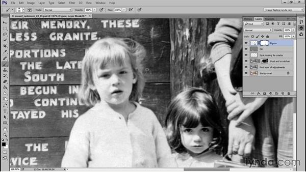 Cutting out and masking the figure: Photo Restoration Techniques: Recomposing a Photo