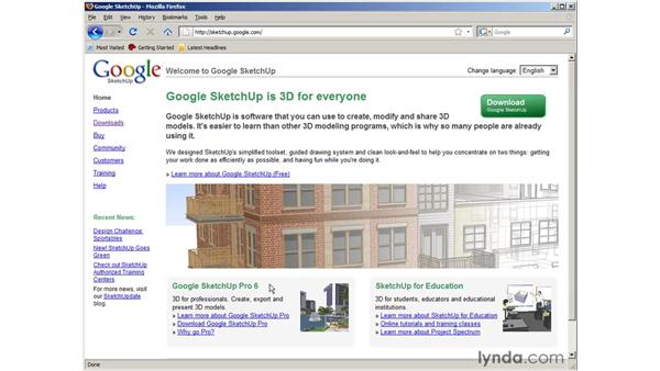 Installing SketchUp: SketchUp 6 Essential Training