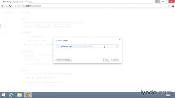 Setting the homepage and default search engine: Up and Running with the Chrome Browser