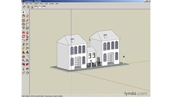 Creating camera views: SketchUp 6 Essential Training