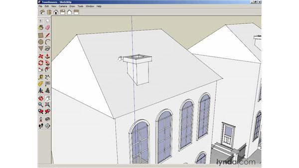 Shading faces and edges: SketchUp 6 Essential Training