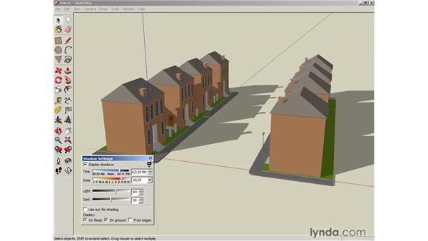 Creating shadows and fog: SketchUp 6 Essential Training