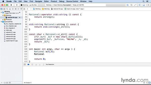 Further considerations: C++ Move Semantics