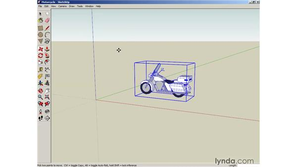 Selecting and moving objects: SketchUp 6 Essential Training