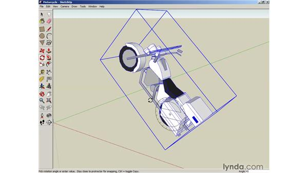 Scaling and rotating objects: SketchUp 6 Essential Training