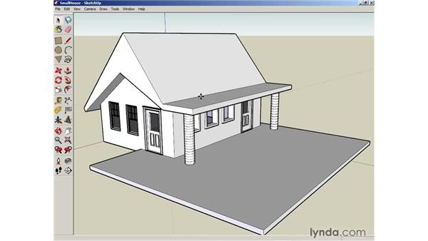 Manipulating faces and edges: SketchUp 6 Essential Training