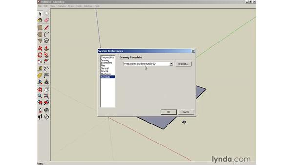 Using the Rectangle tool: SketchUp 6 Essential Training