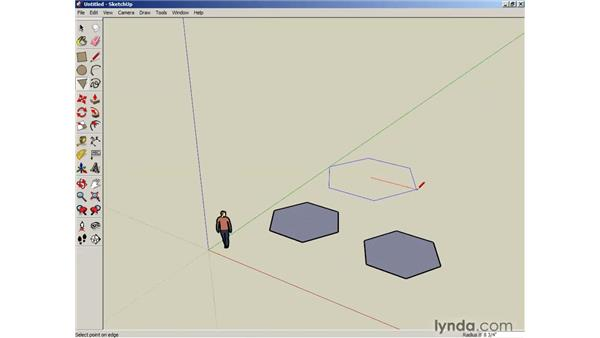 Creating circles and polygons: SketchUp 6 Essential Training
