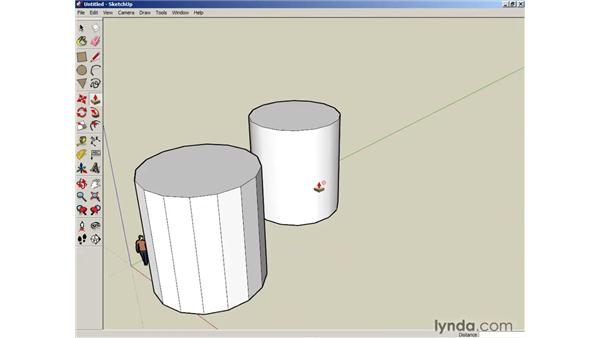 Pushing and pulling faces into 3D: SketchUp 6 Essential Training