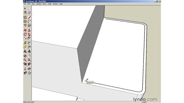 Using the Offset tool to create outlines: SketchUp 6 Essential Training