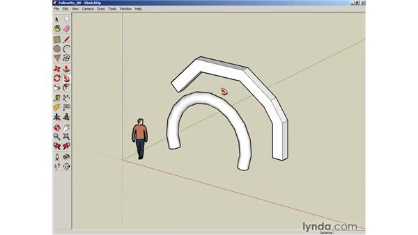 Using the Follow Me tool : SketchUp 6 Essential Training