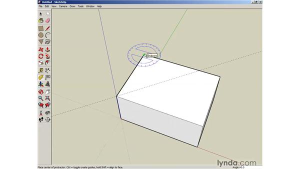 Using construction tools to create guides: SketchUp 6 Essential Training
