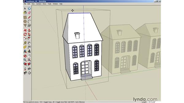 Grouping objects: SketchUp 6 Essential Training