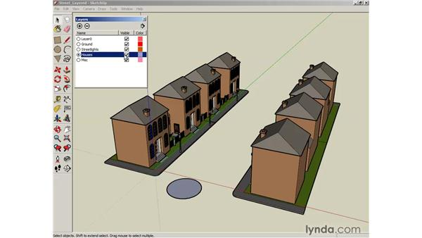 Working with layers: SketchUp 6 Essential Training