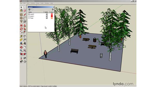 Creating layers: SketchUp 6 Essential Training