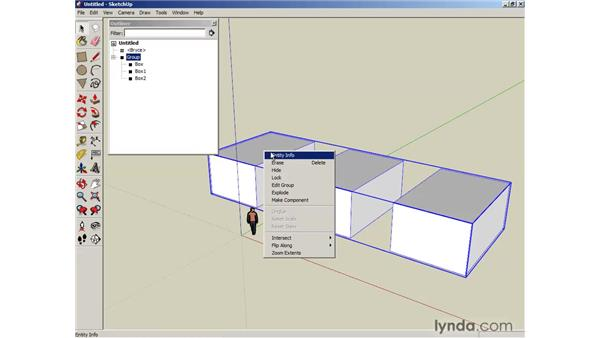 Using the Outliner: SketchUp 6 Essential Training