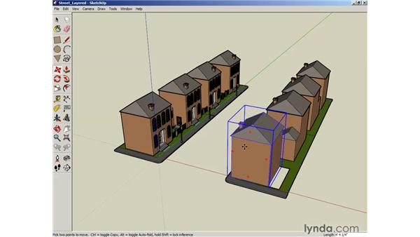 Locking and unlocking objects: SketchUp 6 Essential Training