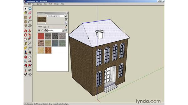 Applying materials: SketchUp 6 Essential Training