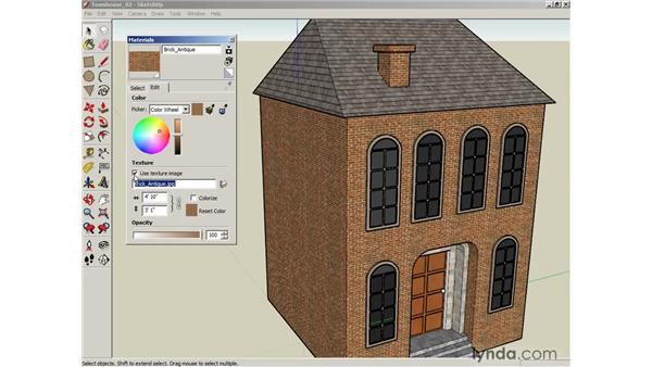 Editing materials: SketchUp 6 Essential Training
