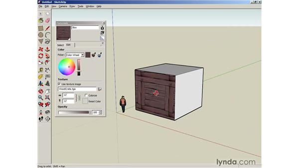 Mapping images: SketchUp 6 Essential Training