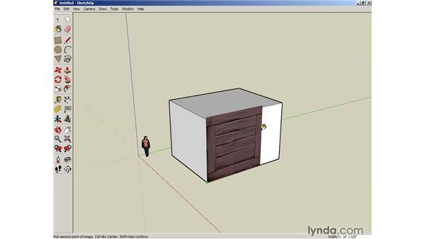 Applying bitmap images: SketchUp 6 Essential Training