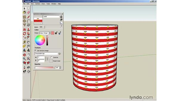 Mapping curved objects: SketchUp 6 Essential Training