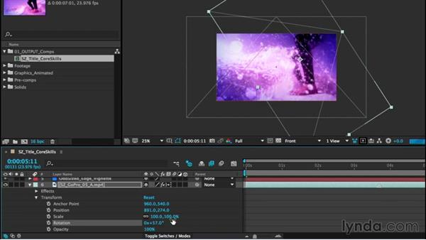 Working with layers: After Effects CC Essential Training (2015)