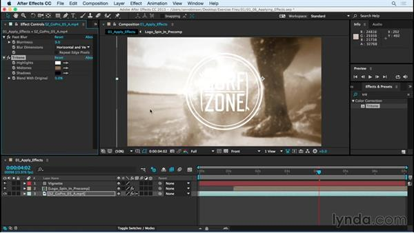 Applying effects: After Effects CC Essential Training (2015)