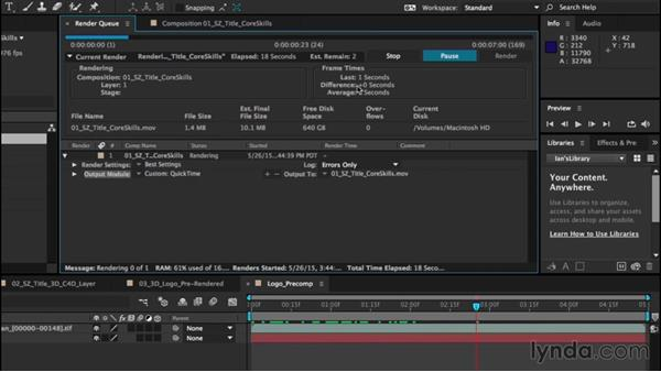 Understanding rendering: After Effects CC Essential Training (2015)