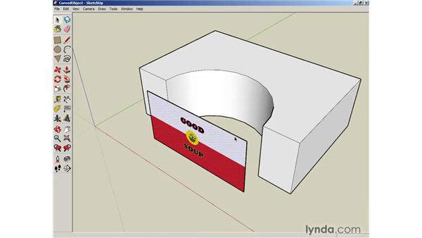 Projecting maps on curved objects: SketchUp 6 Essential Training
