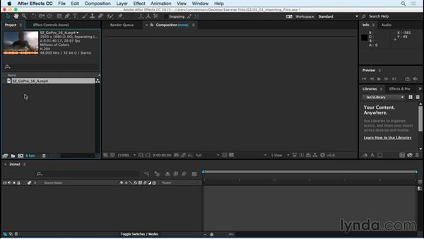 Importing files into After Effects: After Effects CC Essential Training (2015)