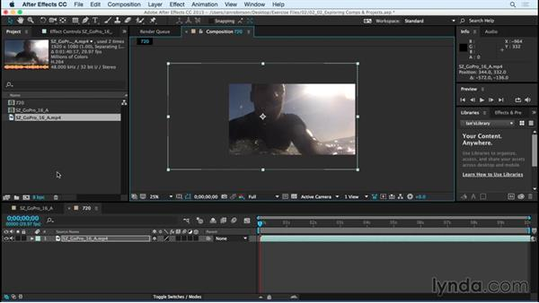 Exploring composition and project settings: After Effects CC Essential Training (2015)