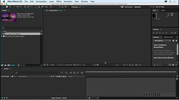Importing Photoshop files as compositions: After Effects CC Essential Training (2015)