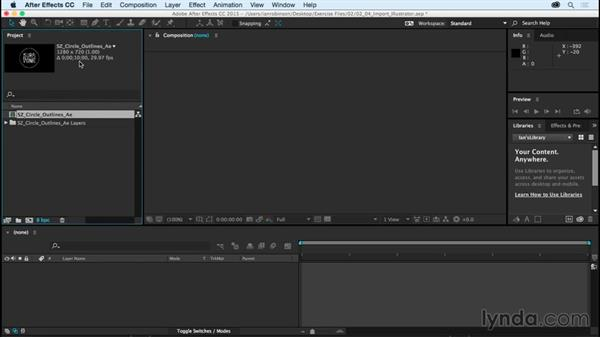 Importing Illustrator files as compositions: After Effects CC Essential Training (2015)