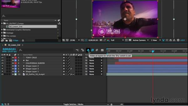 Understanding the Timeline buttons and switches: After Effects CC Essential Training (2015)