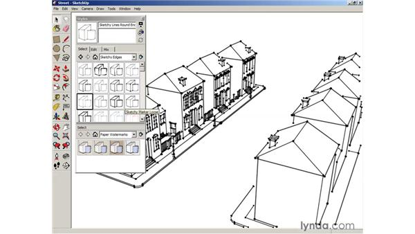 Applying styles: SketchUp 6 Essential Training