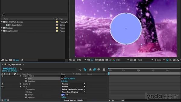 Creating design elements with shape layers: After Effects CC Essential Training (2015)