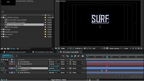 Using track mattes: After Effects CC Essential Training (2015)