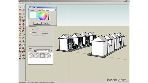 Creating styles: SketchUp 6 Essential Training
