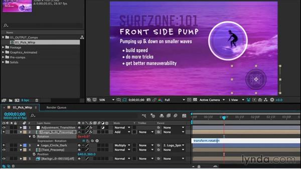 Creating expressions with the pickwhip: After Effects CC Essential Training (2015)