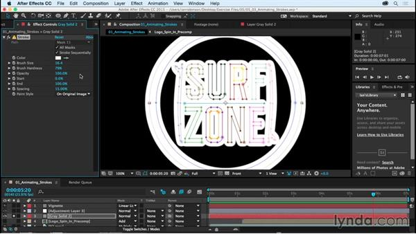 Animating strokes with effects: After Effects CC Essential Training (2015)