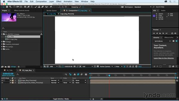 Rendering graphics in the render queue: After Effects CC Essential Training (2015)