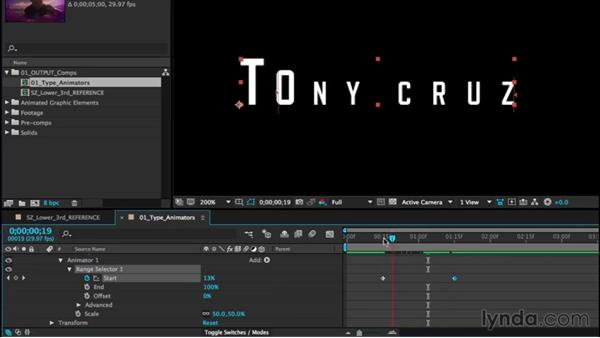 Creating type animators: After Effects CC Essential Training (2015)