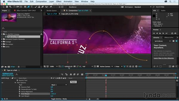 Creating and animating type on a path: After Effects CC Essential Training (2015)