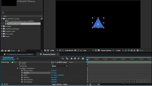 Animating repeating shape layers: After Effects CC Essential Training (2015)