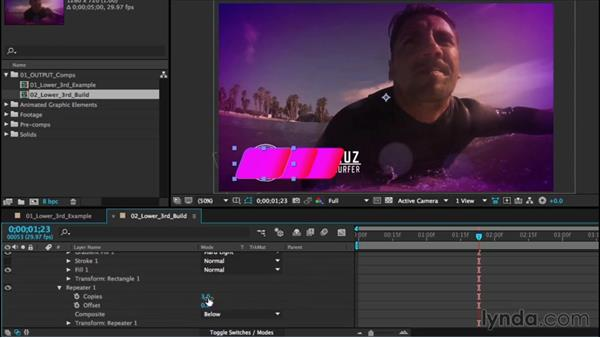 Building a lower third: After Effects CC Essential Training (2015)