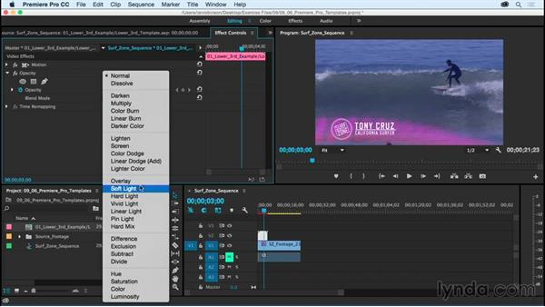 Creating graphic templates for use in Premiere Pro: After Effects CC Essential Training (2015)