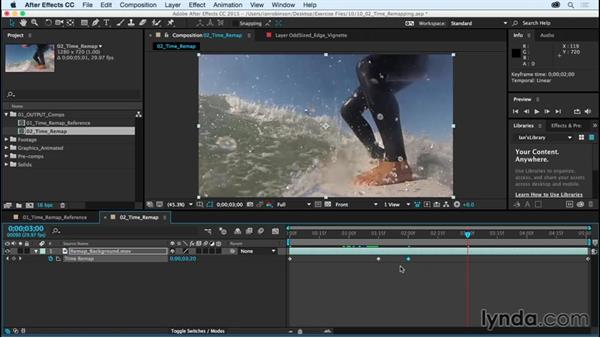 Retiming with Time Remapping: After Effects CC Essential Training (2015)