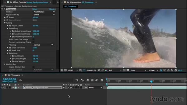Retiming footage with Timewarp: After Effects CC Essential Training (2015)