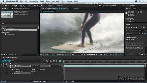 Rotoscoping with masks: After Effects CC Essential Training (2015)